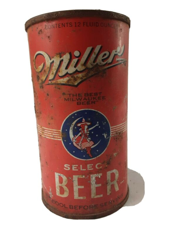 Vintage Miller High Life Select Beer Flat Top Beer Can