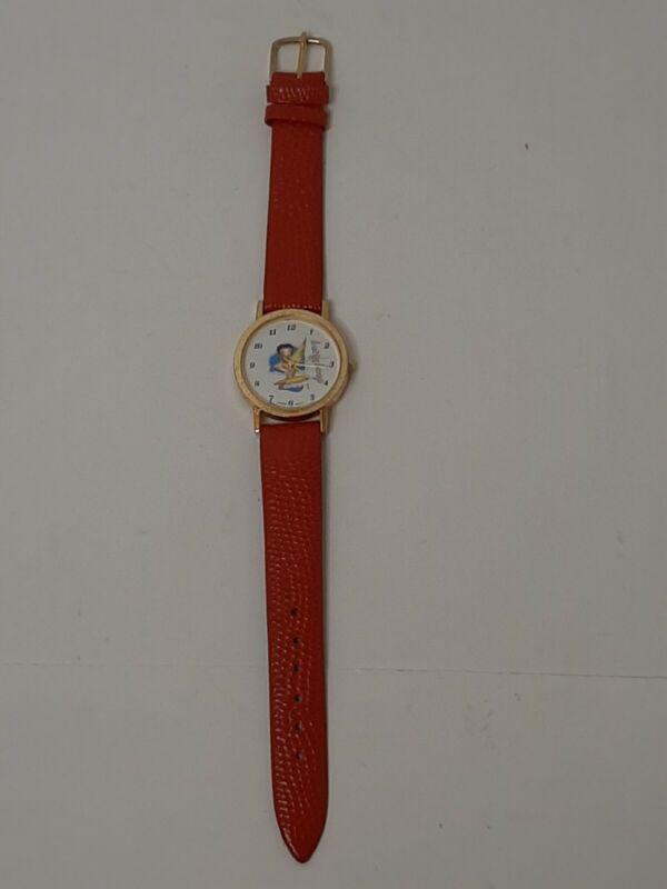 Vintage Betty Boop Watches 1989 K.F.S Fleischer Studios Japan Watch W/Red Band
