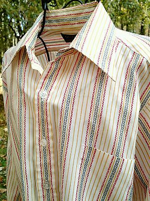 Sears Best Button Shirt Size M Collared Funky Retro Rockabilly Western