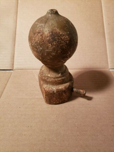 Antique Round Cast Iron Ball Post Finial Cap Fence Topper for corner