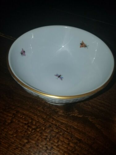 Rare Herend Rothschild Bird 5 Inch Footed Handpainted Porcelain Bowl 1364/RO  - $199.99