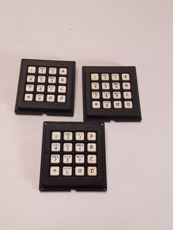 3 Grayhill 86BB2 006 16 Button Keypads Number Pads