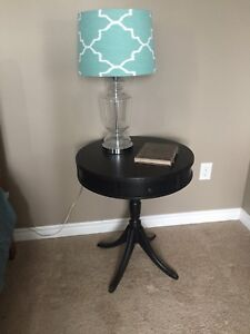 Black Antique Side Table