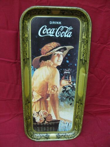 "Vintage Coca Cola ""drink delicious and refreshing"" metal serving tray"