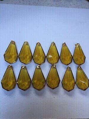 Vintage Chandelier Crystals, Colour Topaz