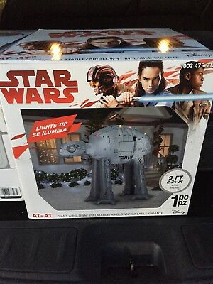 Star Wars Disney AT AT giant airblown inflatable 9 ft NIP Gemmy AT-AT Christmas - Star Wars Christmas Inflatables
