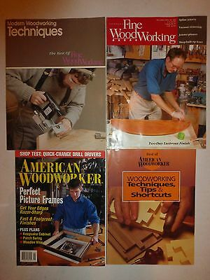 4 Lot FINE WOODWORKING Magazine,Best of Fine Woodworking,American