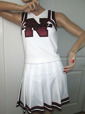 EAGLES Cheerleader Uniform Outfit Costumes Sizes 32-36