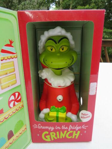 Hallmark Christmas GRUMPY IN THE FRIDGE GRINCH motion activated talking Dr Seuss