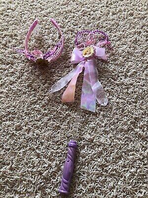DISNEY Rapunzel Haarkrone und Leuchtstab - tolles Set - Original Disney (Disney Rapunzel Krone)