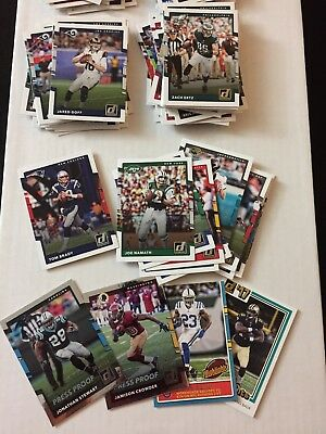 2017 Donruss NFL Football HUGE Lot of 141 Cards: Base, Legends, Inserts, Rookies