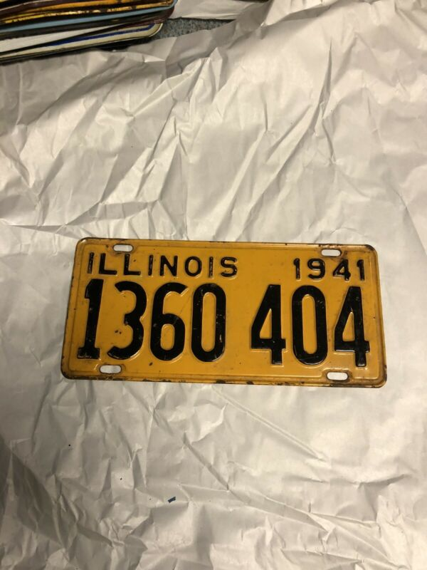 Illinois 1941 License Plate