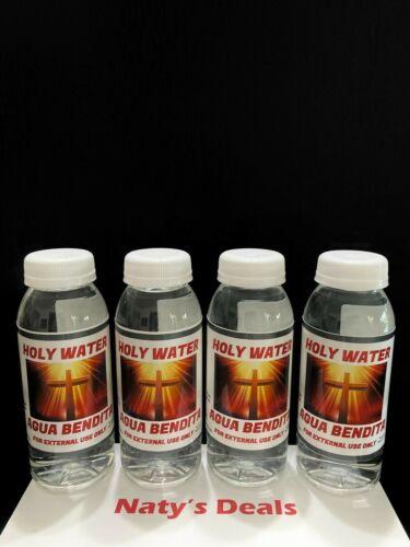 Holy Water Agua Bendita Lot of 4 Roman Spiritual Religion Blessings 8 0z Each