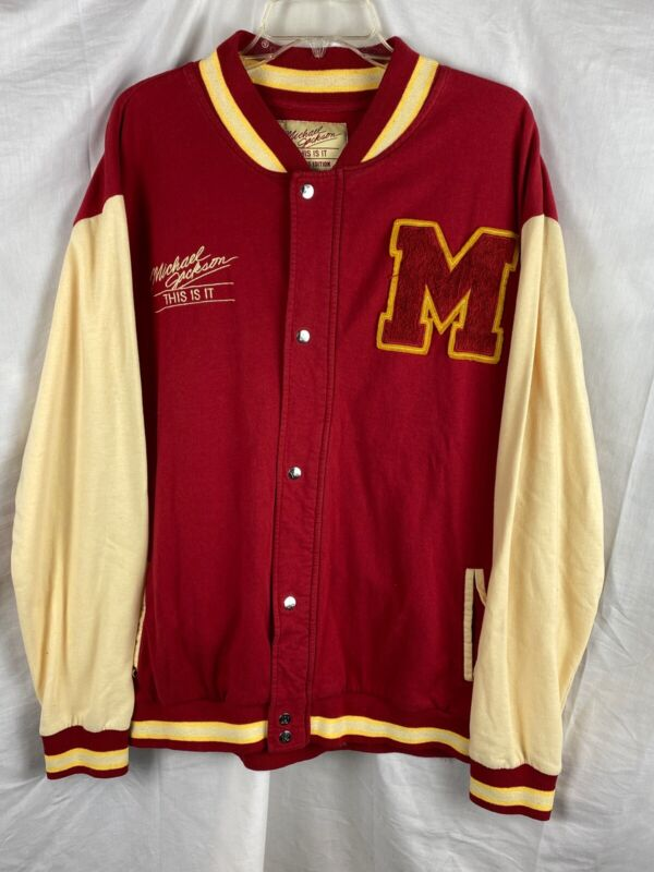 Michael Jackson Thriller THIS IS IT Tour Limited Edition Varsity Jacket Size XL