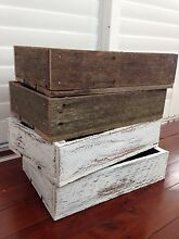 Wood display trays - handmade - rustic - crate box - wine Seaforth Manly Area Preview