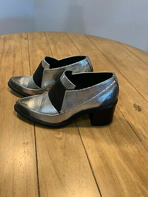 United Nude Block Heel Silver Loafer - Size 37