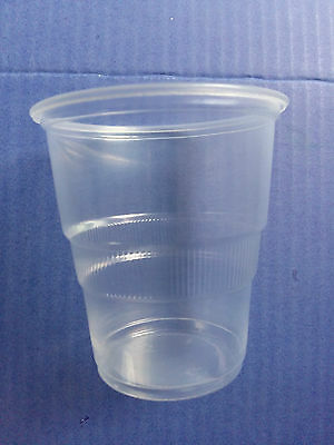 Clear Plastic Disposable 250ml Tumbler Glasses Cups Glass Great Value Cheap! - Cheap Disposable Glasses