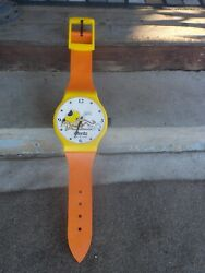 Vintage  Rare  Chester Cheta  Chetos Brand 45 Wall Hanging Plastic Clock