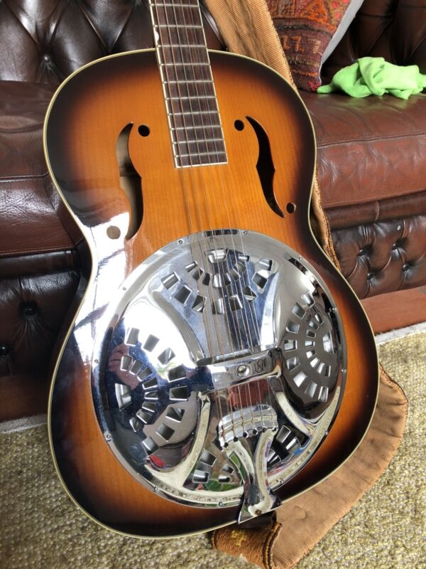 """Gretsch """"Historic Series"""" Resonator (with case & fitted Headway bridge pickup)"""