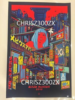 Black Light Night (Blade Runner 2049 Black Light Night Ford, Mainger Print Poster Art #/300)