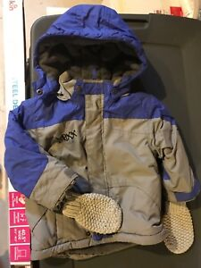Mexx winter jacket and snow pants with mittens size 2t