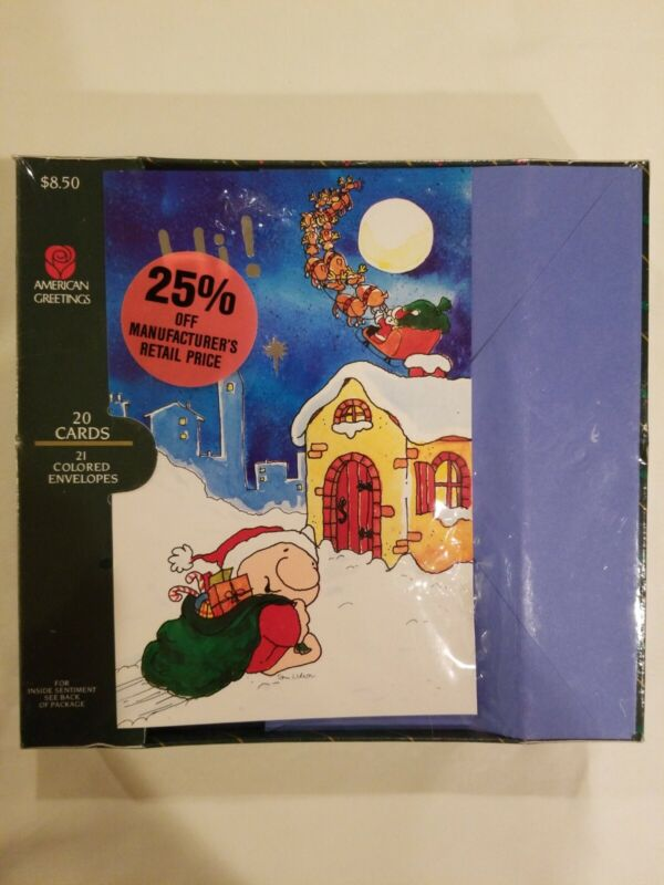 1991 Vtg Ziggy Tom Wilson Merry Christmas Cards Box 20 Mailers American Greeting
