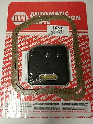 Napa Transmission Filter Kit 19756 Chrysler 42 44 46 47 RE, FT1206A, P1262, New