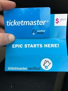 $1000.00 gift card for ticket master