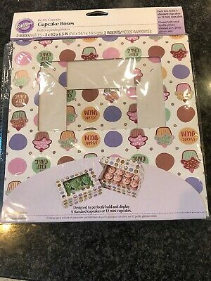Wilton Cupcake Boxes-6 Cavity Cupcake Heaven 2 Per Package
