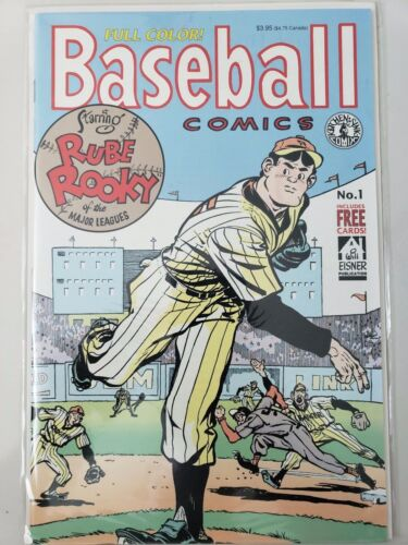 BASEBALL COMICS #1 (1991) KITCHEN SINK COMIX WILL EISNER! INCLUDES CARDS! NM