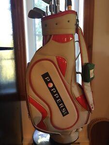 Sac de golf et 10 bâtons.