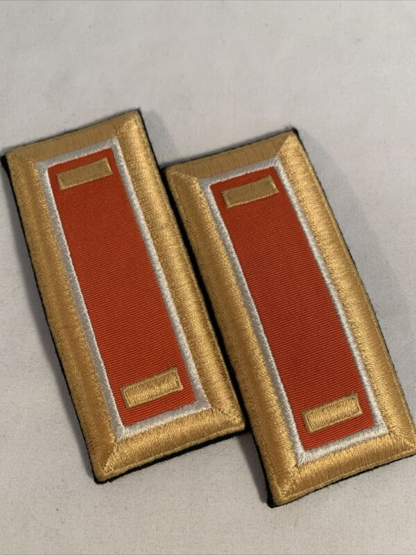 US Army 2nd Lieutenant Signal Corps Male Shoulder Boards Vanguard