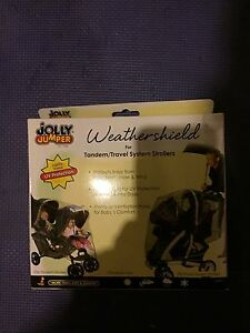 Plastic Weathershield For Double Stroller