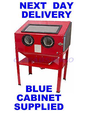 Sand Blaster Bead Grit Blasting Cabinet Sandblaster Magnum ** BLUE **