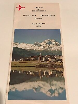 The Best of Three Worlds Tour Brochure July 5-19 1977 Switzerl Austria Holy Land