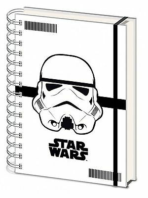 Official Star Wars Stormtrooper Notepad Notebook Hardback A5 Stationary TV Gift