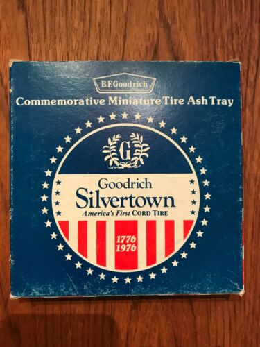 Vintage 1976 BF GOODRICH Silvertown Rubber Tire Commemorative Glass Ashtray MIB