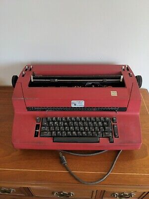 Red Ibm Correcting Selectric 2 Ii Electric Typewriter Ii Vintage - Untested