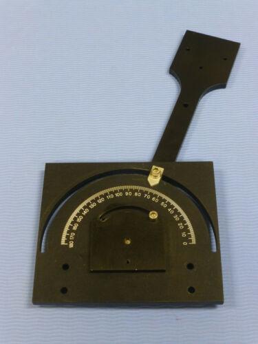 Large Goniometer Instrument Base, 180 Degrees Range