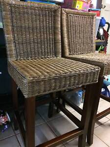 Timber and cane breakfast bar stools Coolamon Coolamon Area Preview