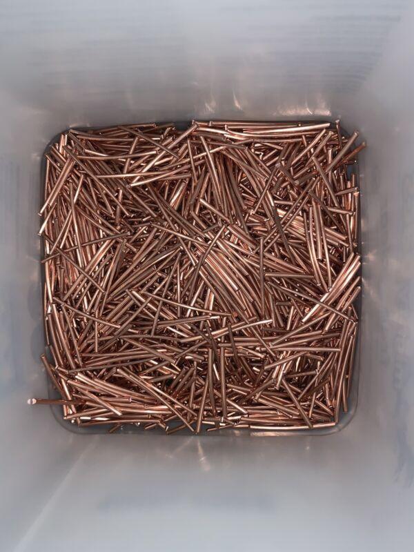 70Lbs Scrap Copper Wire Bare Bright Melt Material Craft jewelry