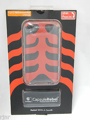 SwitchEasy Capsule Rebel Dual Layer Case Cover for iPhone 3G Devil Red/Black - Switcheasy Capsule Case