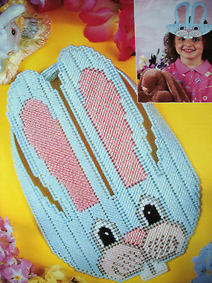 Bunny Visor (BUNNY VISOR  ~*~PLASTIC CANVAS PATTERN BY ANNIE'S )