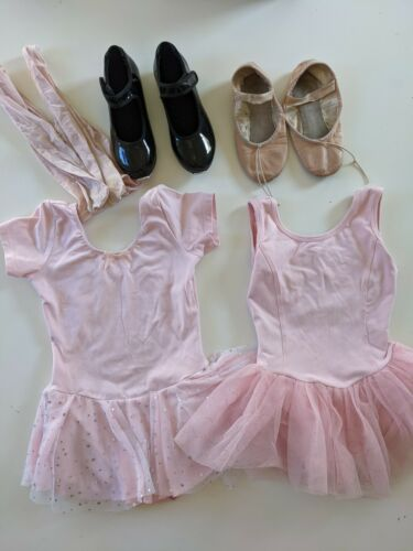 Ballet And Tap Girls Shoes and Leotards - Bundle Sz 4-5