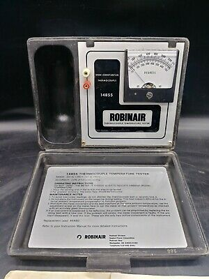 Robinair 14855 Thermocouple Temperature Tester With Instruction Book F3