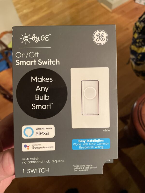 GE C by GE 3- Wire Smart Switch Button Style Single-Pole/3-Way White #93120080