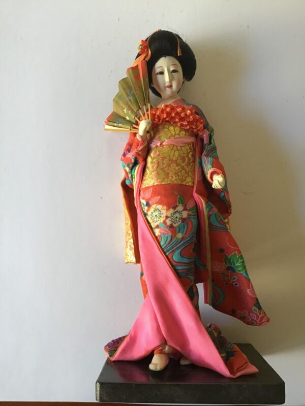 Antique/Vintage Japanese doll beautifully hand painted from the 40s - 50s.