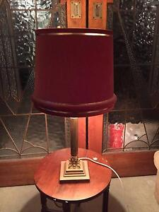 BEAUTIFUL VINTAGE BRASS TABLE LAMP - RED SHADE Pymble Ku-ring-gai Area Preview