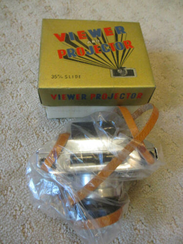 Vintage 35 mm Slide Viewer And Projector Camera Style New in Box *