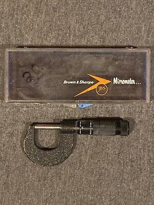 Vintage Brown Sharpe 0-25 No. Kingstown R. I. Usa Metric Micrometer